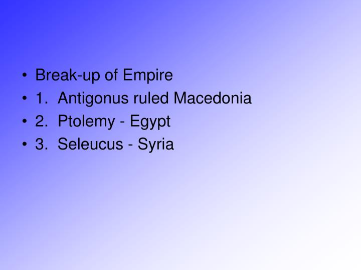 Break-up of Empire