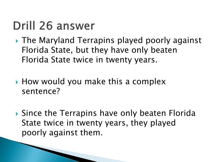 Drill 26 answer