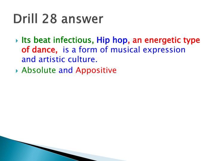 Drill 28 answer