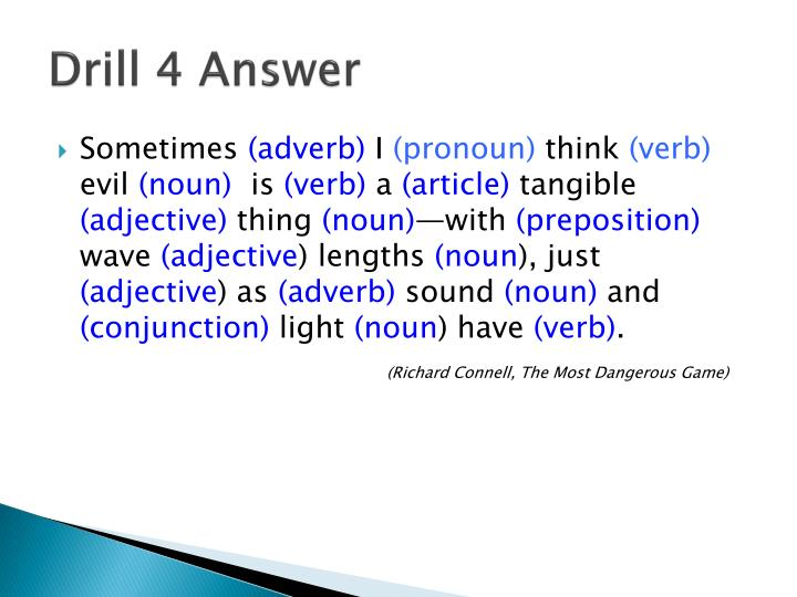 Drill 4 Answer