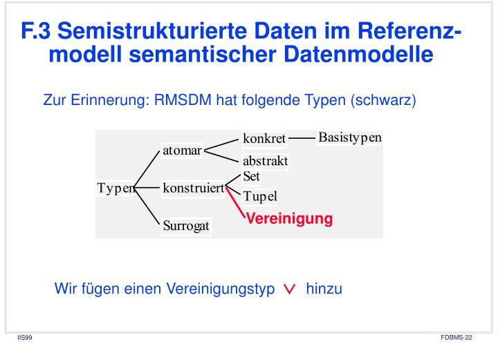 F.3 Semistrukturierte Daten im Referenz-modell semantischer Datenmodelle
