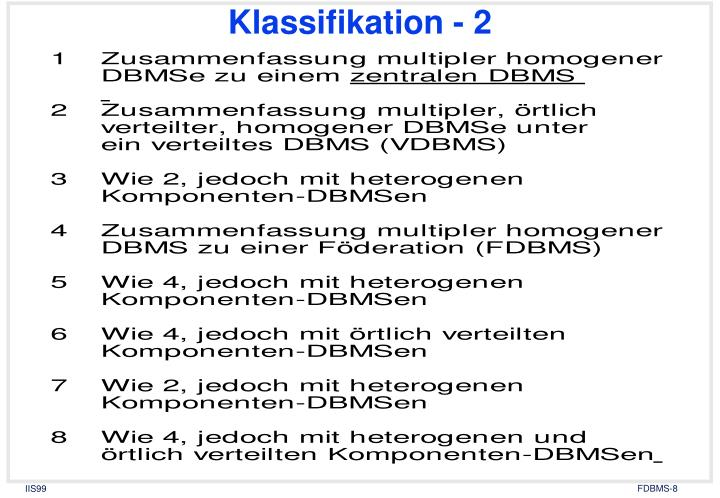 Klassifikation - 2