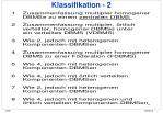 klassifikation 2