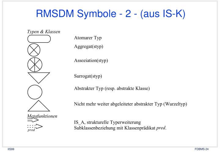 RMSDM Symbole - 2 - (aus IS-K)
