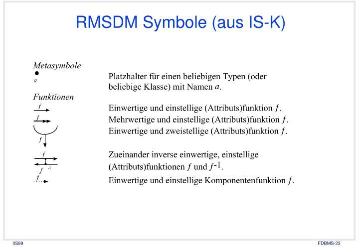 RMSDM Symbole (aus IS-K)