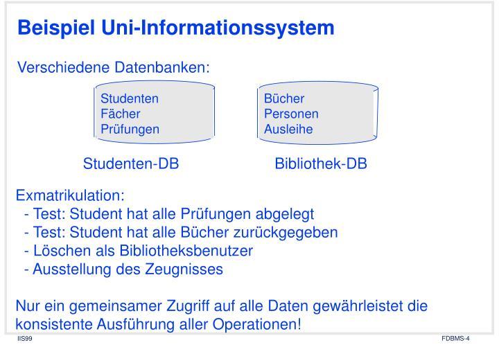 Beispiel Uni-Informationssystem