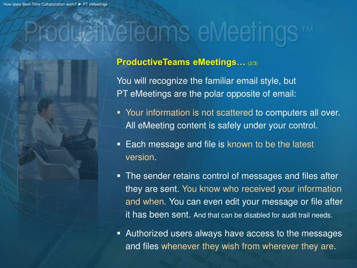 How does Best-Time Collaboration work? ► PT eMeetings
