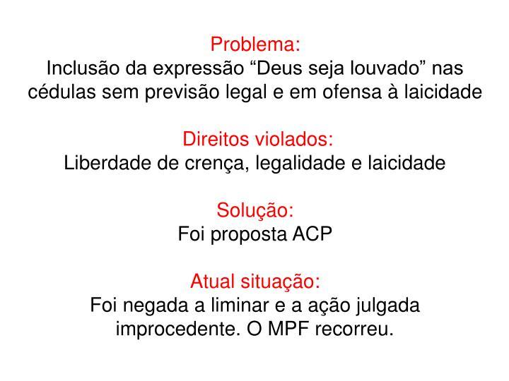 Problema: