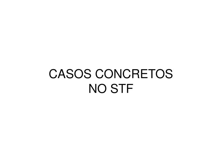 CASOS CONCRETOS