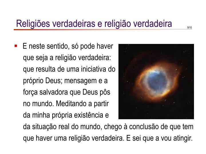 Religiões verdadeiras e religião verdadeira