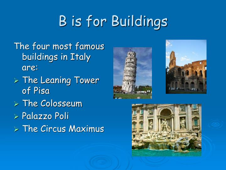 B is for buildings