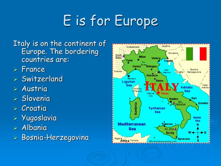 E is for Europe