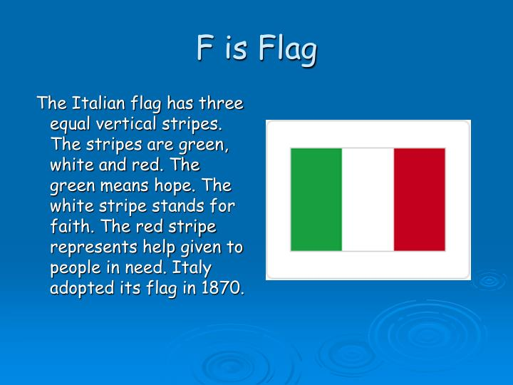 F is Flag
