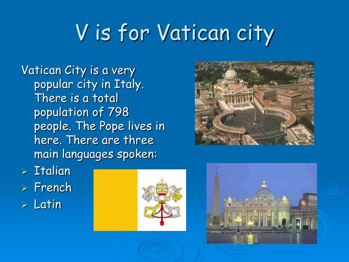 V is for Vatican city