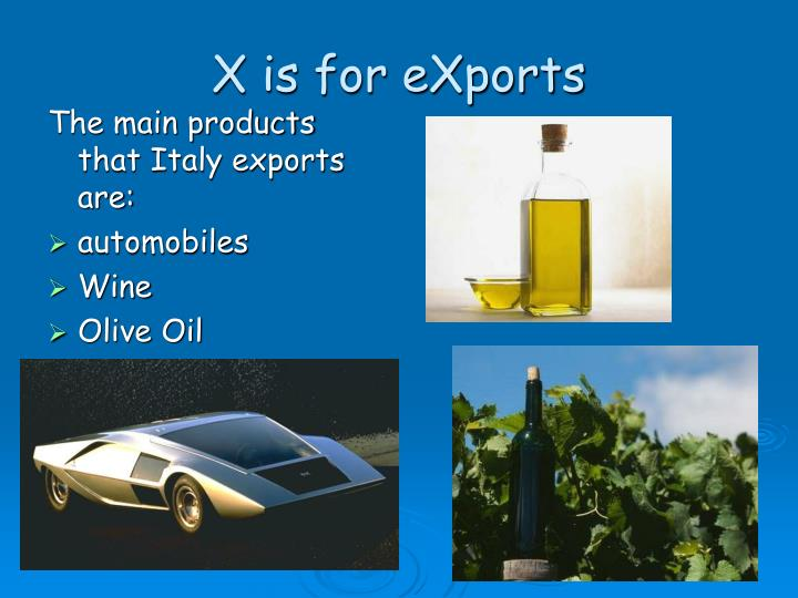 X is for eXports
