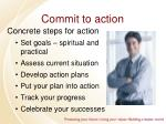 commit to action