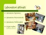 laboratori attivati