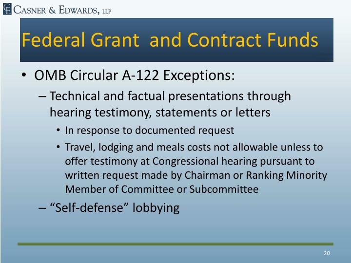 Federal Grant  and Contract Funds