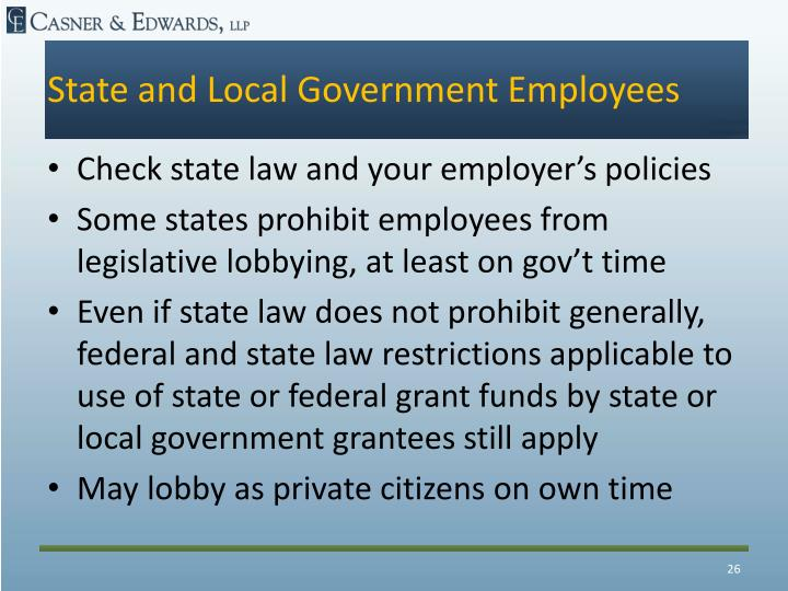 State and Local Government Employees