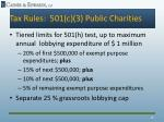 tax rules 501 c 3 public charities3