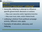 what is advocacy education lobbying1