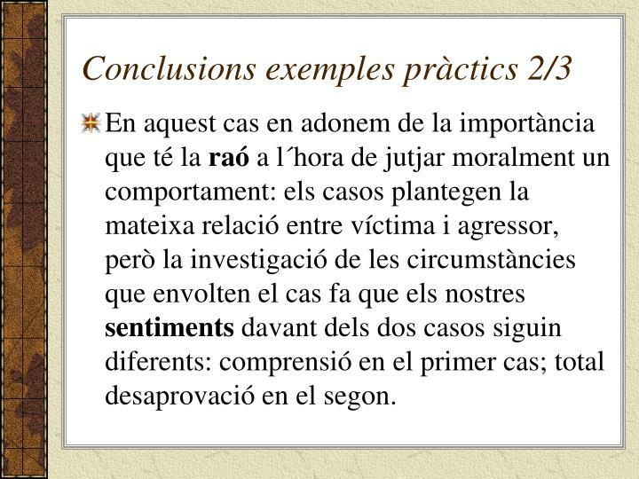 Conclusions exemples pràctics 2/3