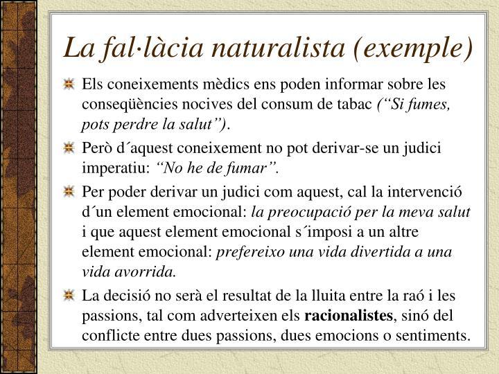 La fal·làcia naturalista (exemple)