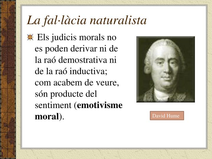 La fal·làcia naturalista
