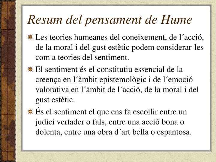 Resum del pensament de Hume