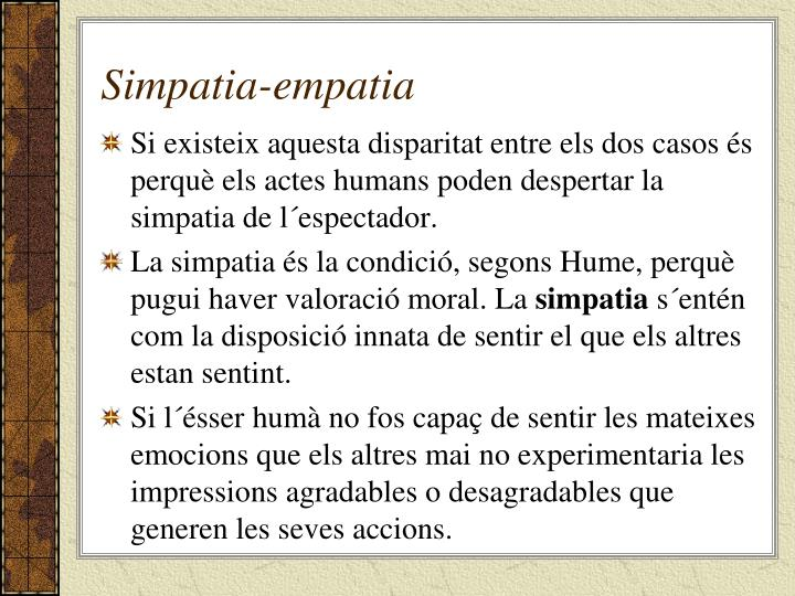 Simpatia-empatia