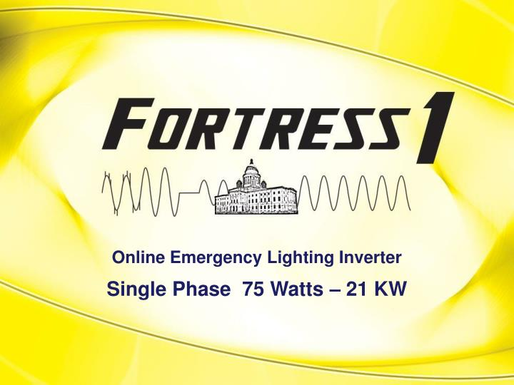 Online emergency lighting inverter