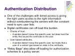 authentication distribution