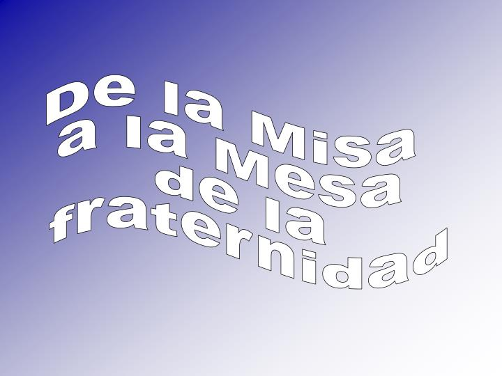 De la Misa