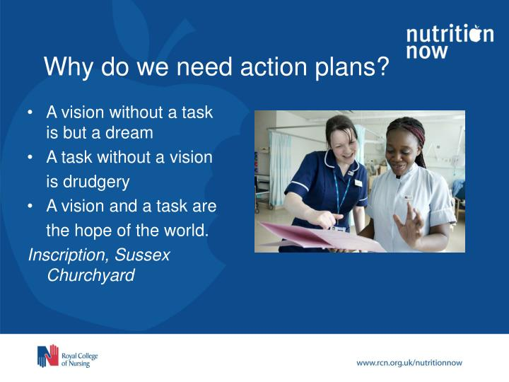Why do we need action plans