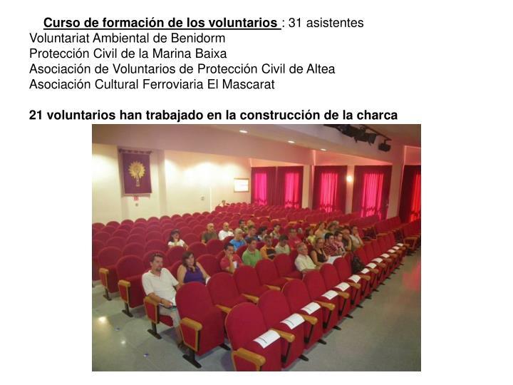 Curso de formación de los voluntarios