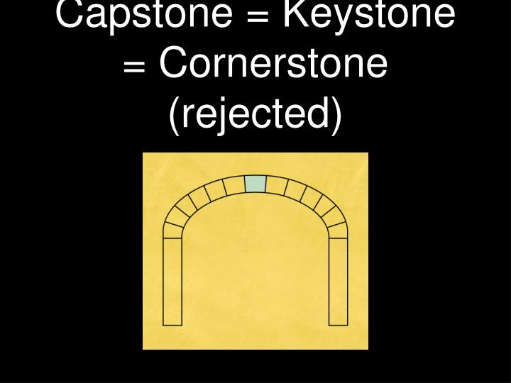 capstone keystone cornerstone rejected