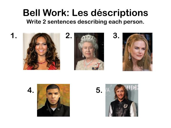 Bell Work: Les