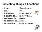 indicating things locations