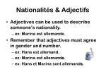nationalit s adjectifs