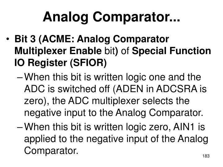 Analog Comparator...