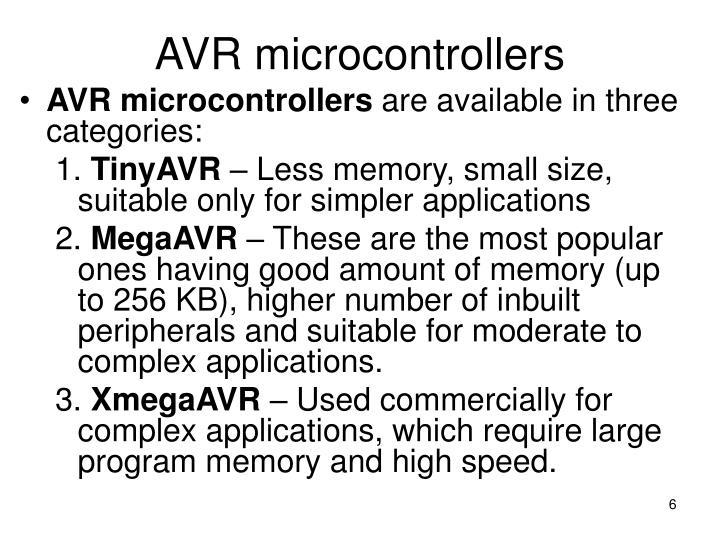 AVR microcontrollers