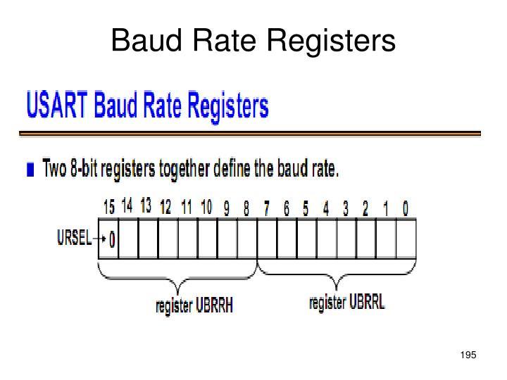 Baud Rate Registers
