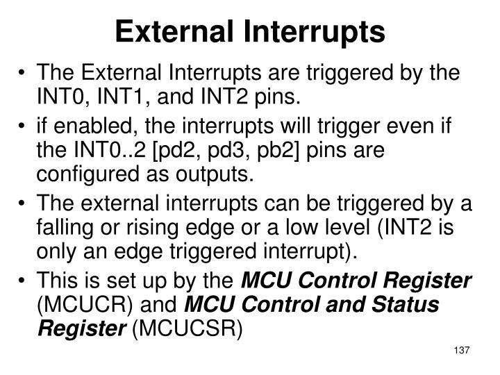 External Interrupts
