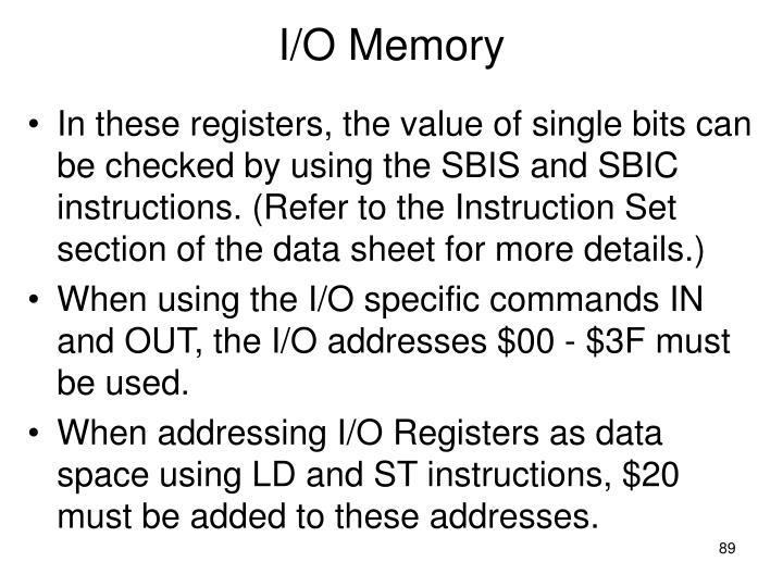 I/O Memory