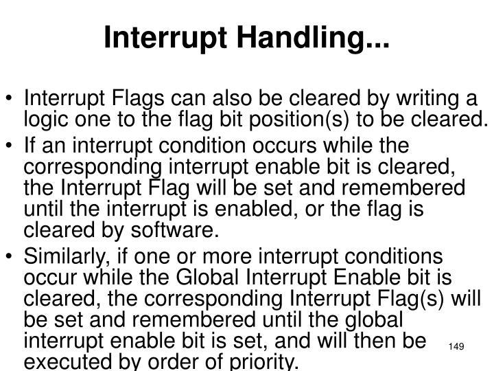 Interrupt Handling...