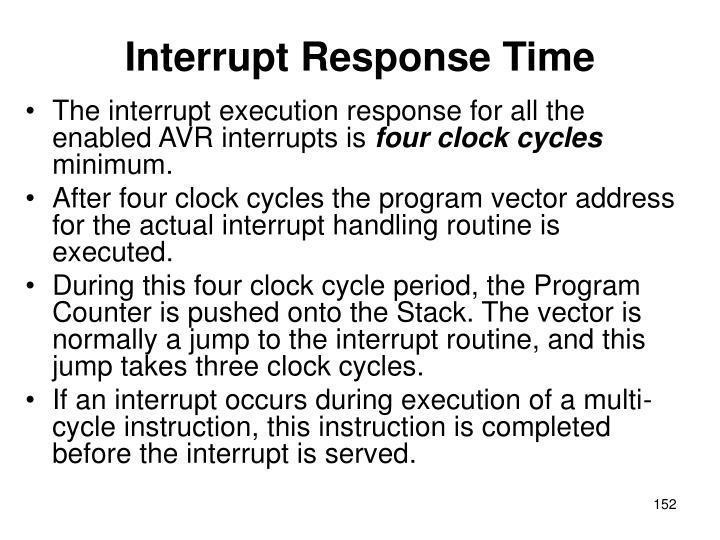 Interrupt Response Time