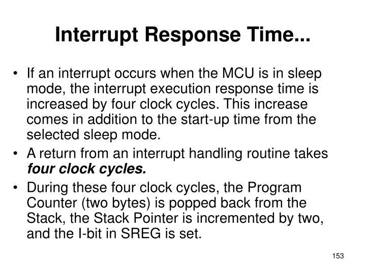 Interrupt Response Time...