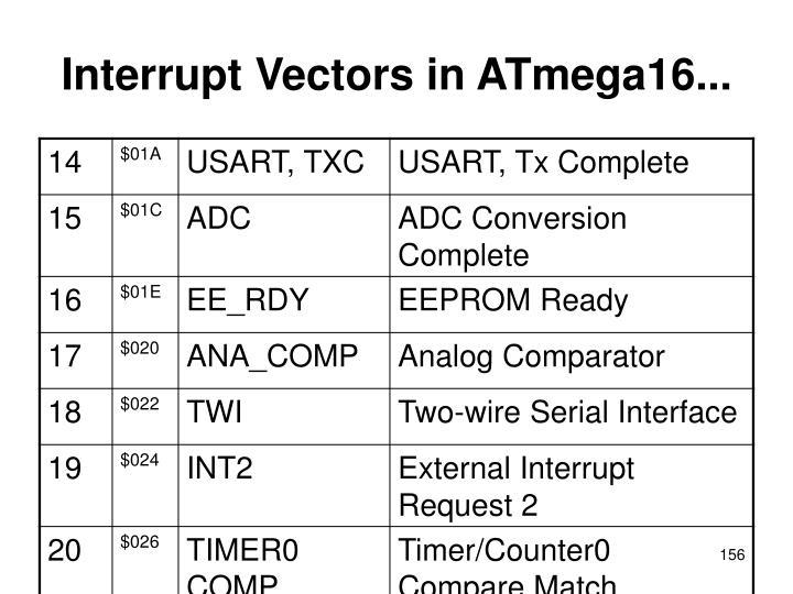 Interrupt Vectors in ATmega16...