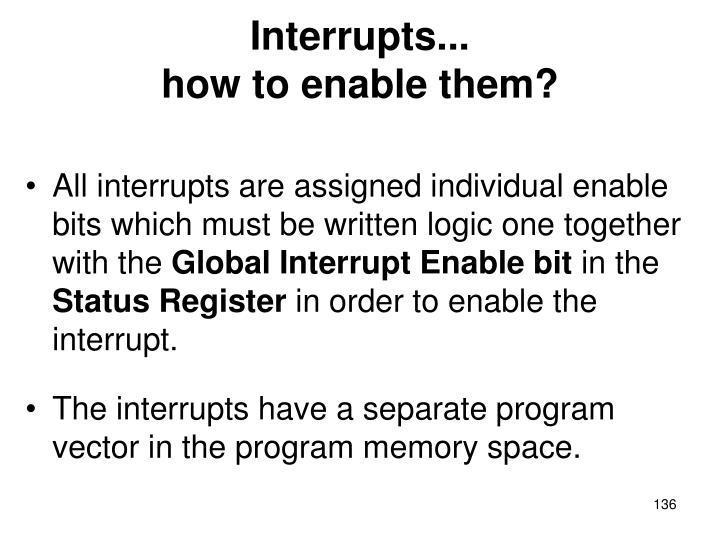 Interrupts...
