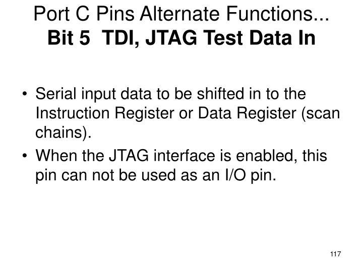 Port C Pins Alternate Functions...